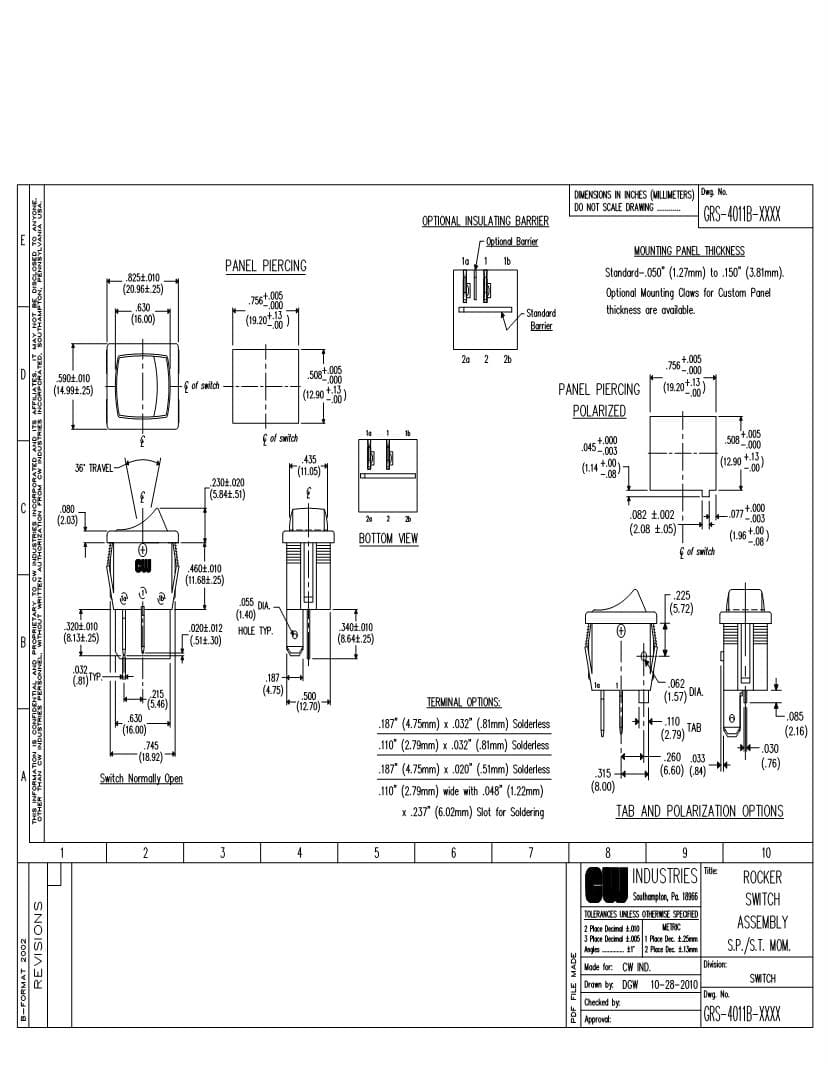 wiring diagram carling rocker switches