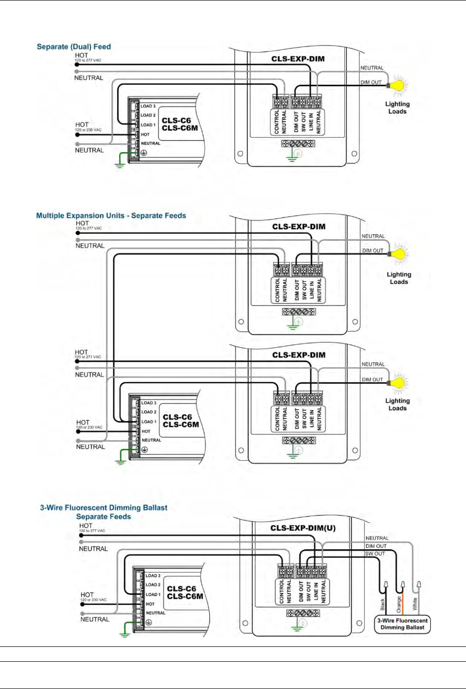 Electronic Dimming Ballast Wiring Diagram - on