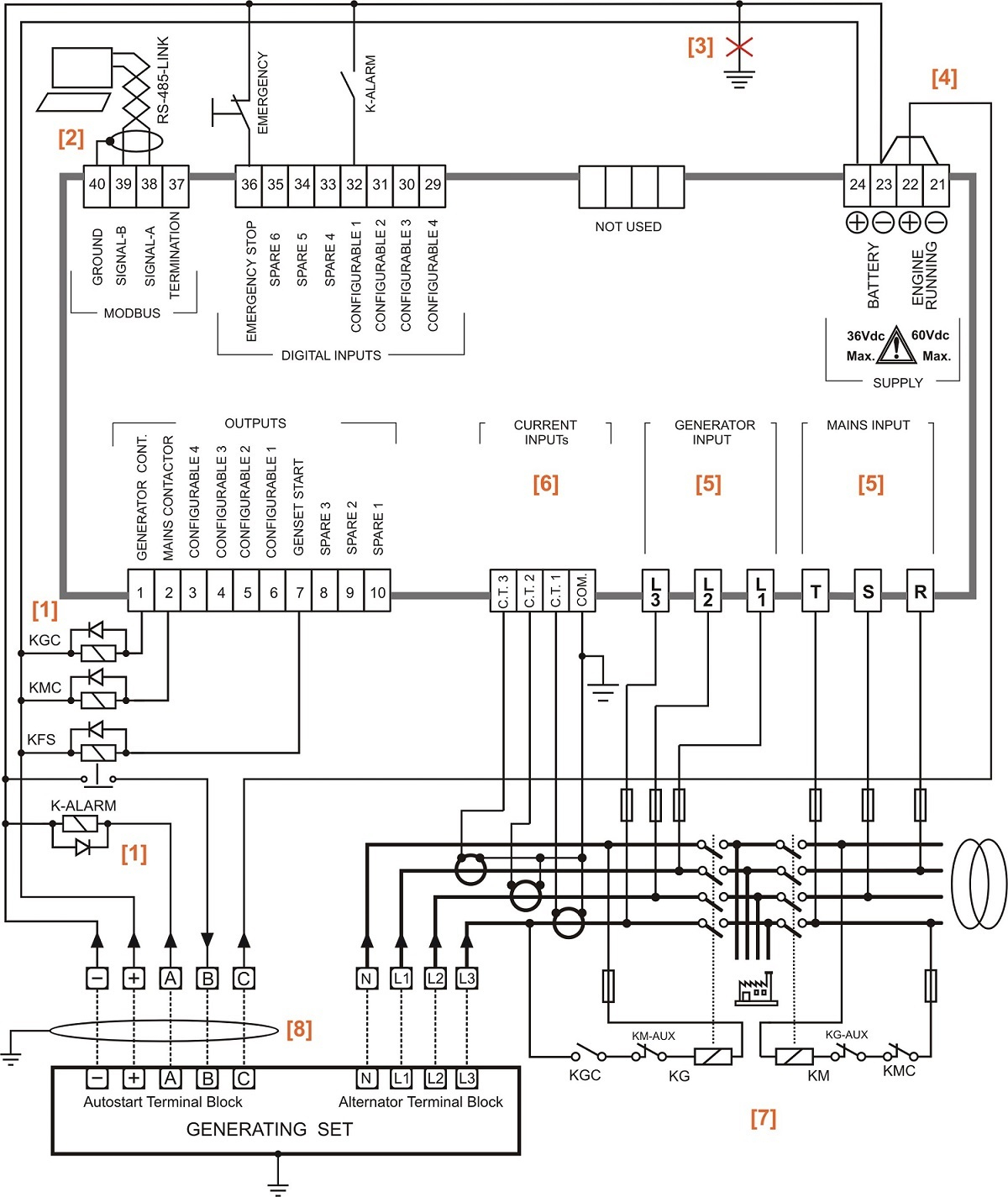 [WRG-2262] Automatic Transfer Switch Schematic Diagram