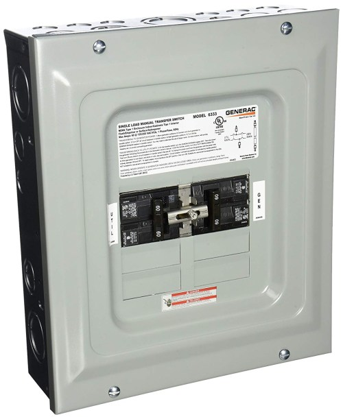 small resolution of generac 6333 wiring diagram generac 6333 60 amp single load double pole manual transfer switch