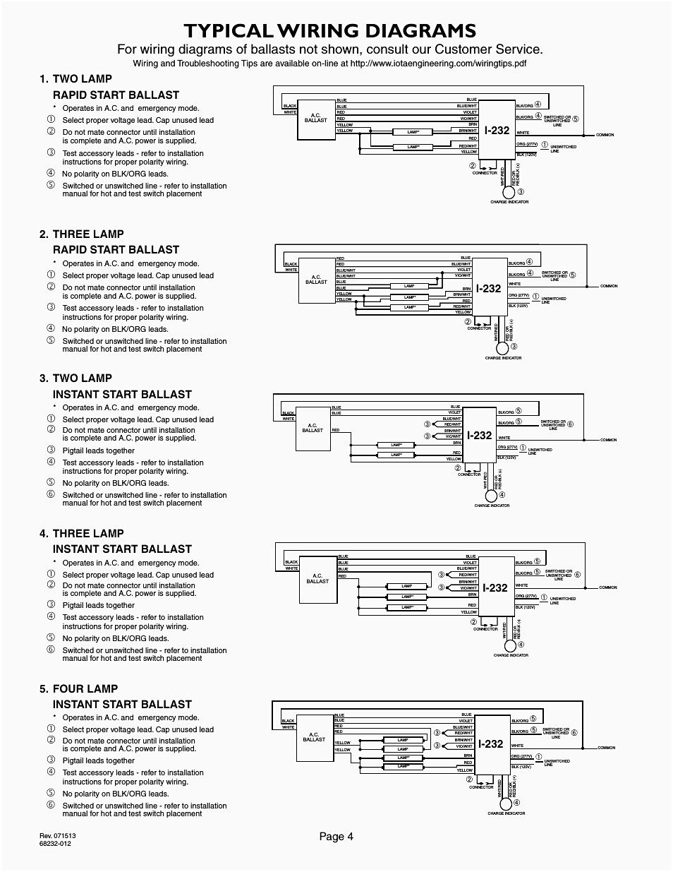 4 Lamp T8 Emergency Ballast Wiring Diagram - Wiring Diagrams Rapid Start Ballast Wiring Diagram on
