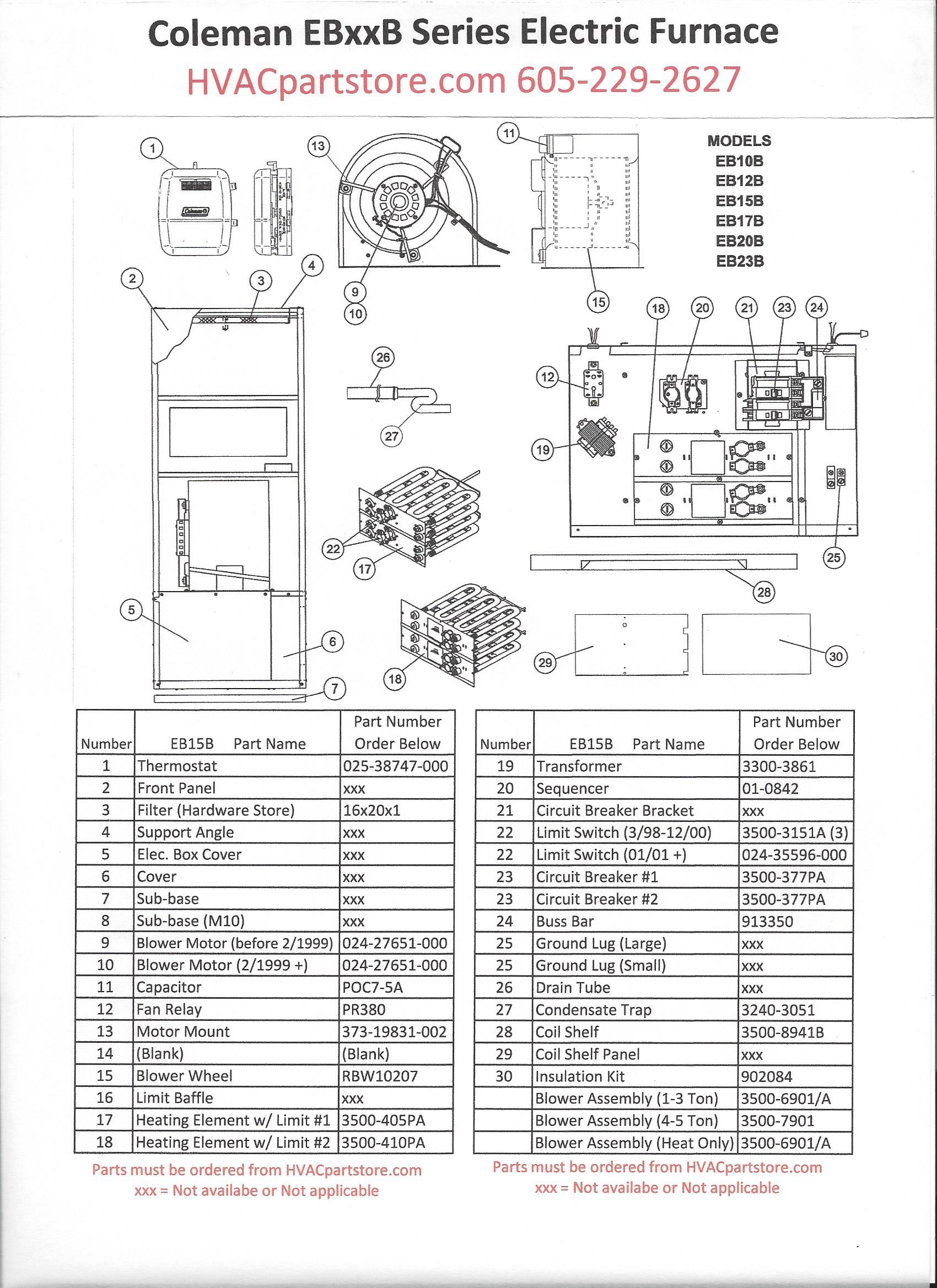 Coleman Furnace Schematic