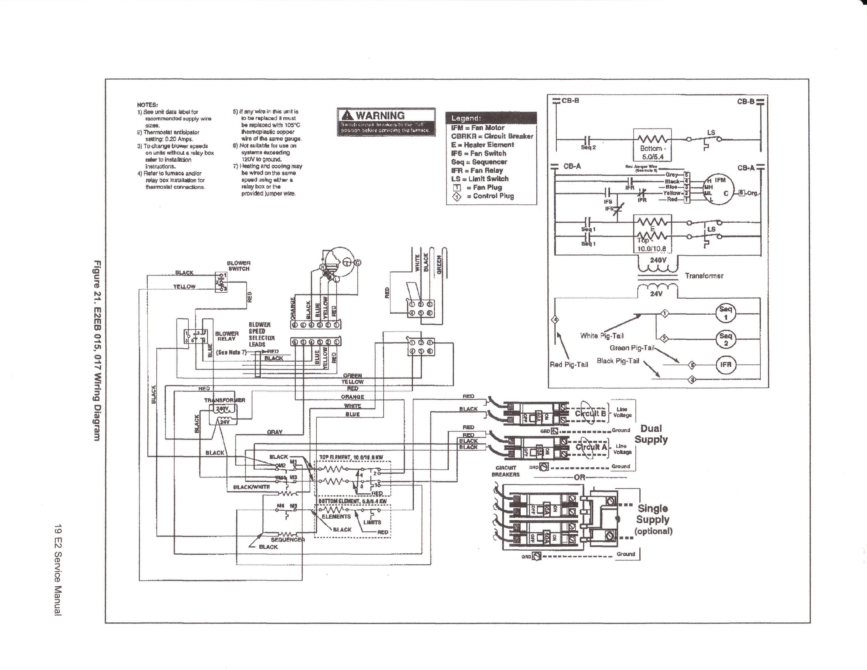 nordyne intertherm wiring diagram