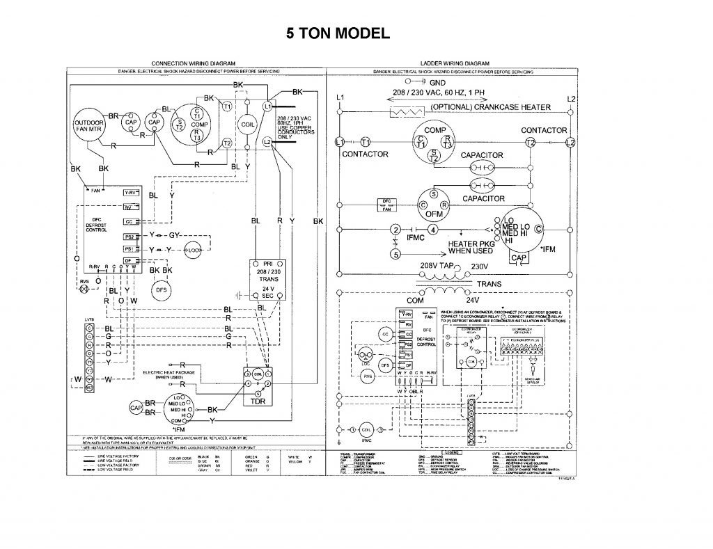 ac air handler wiring diagram rheem