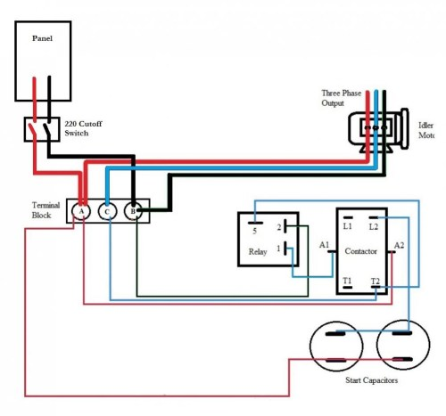 small resolution of single phase hoist wiring diagram