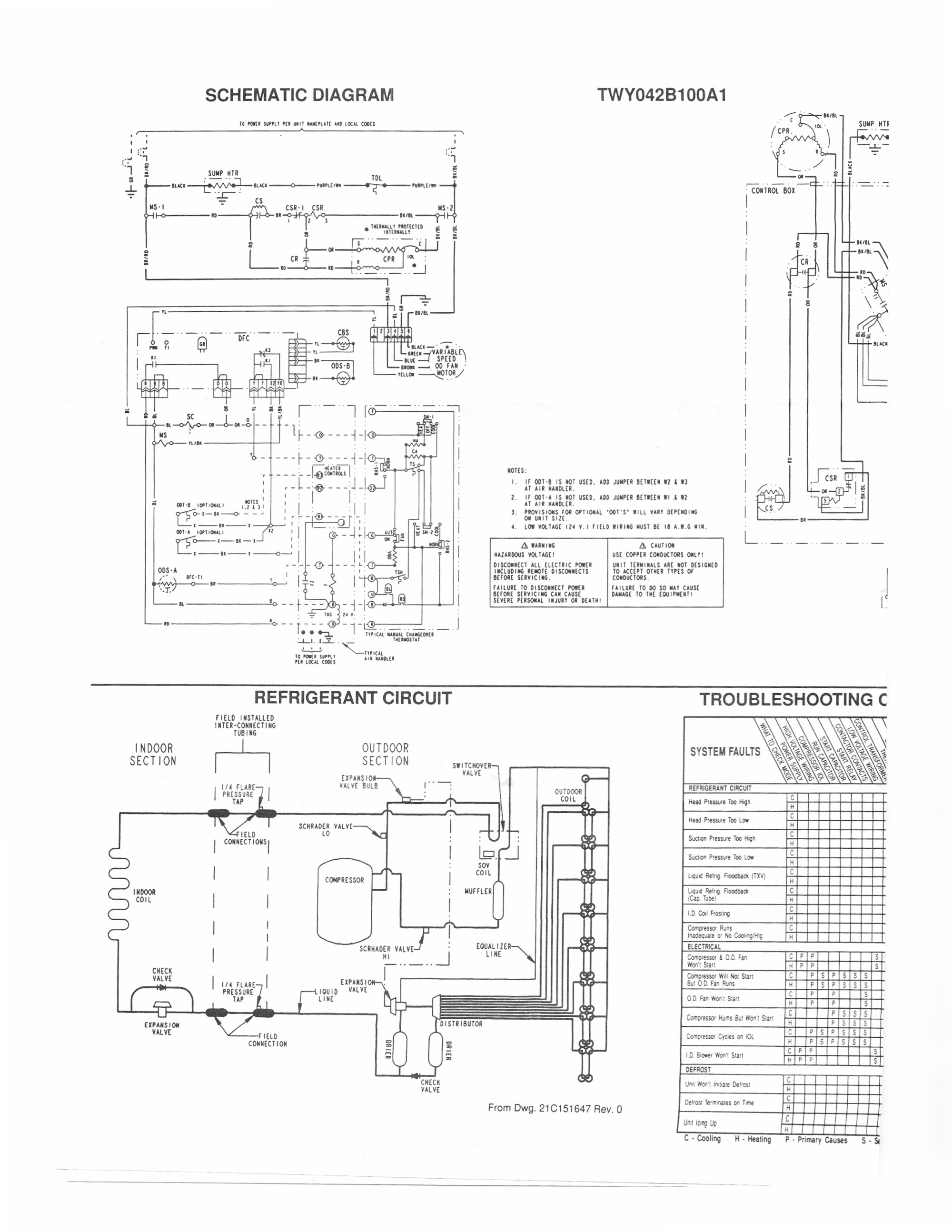 hight resolution of trane heat pump thermostat wiring diagram trane air conditioner wiring schematic handler diagram for solidfonts