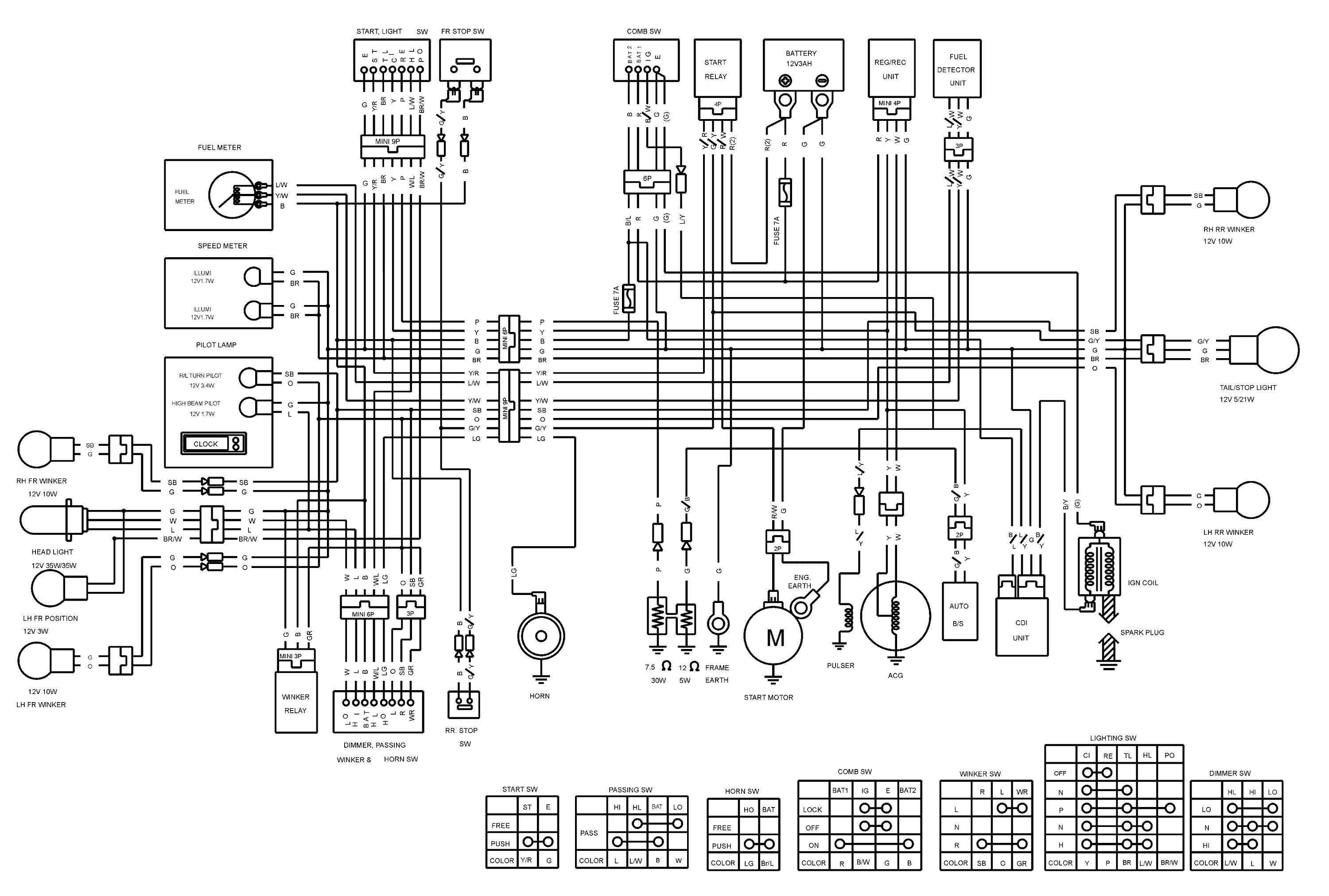 Yamaha R6 Key Switch Wiring Diagram