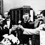 Hoffmann and Stalin Toast One another at Nazi-Soviet Pact signing