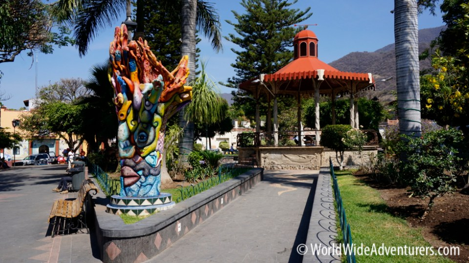 Main plaza in Ajijic|WorldWideAdventurers