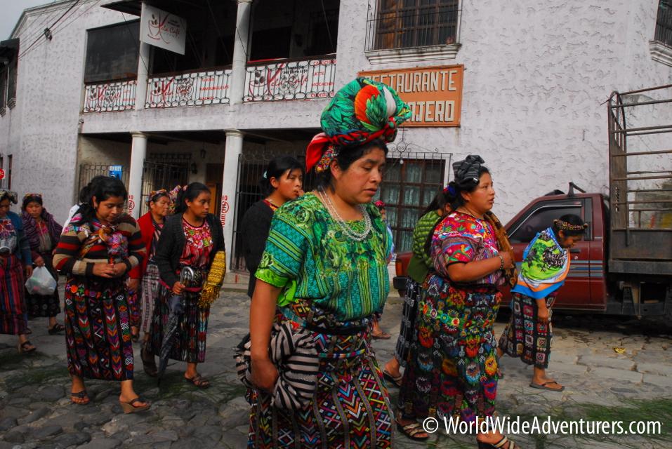Tradtional Women in Xela Guatemala