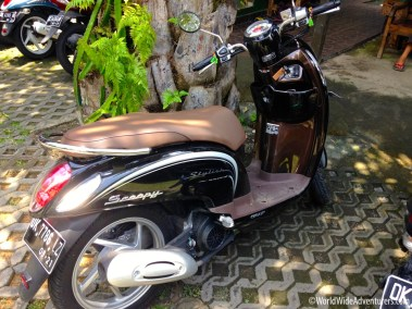Riding a Scooter in Bali