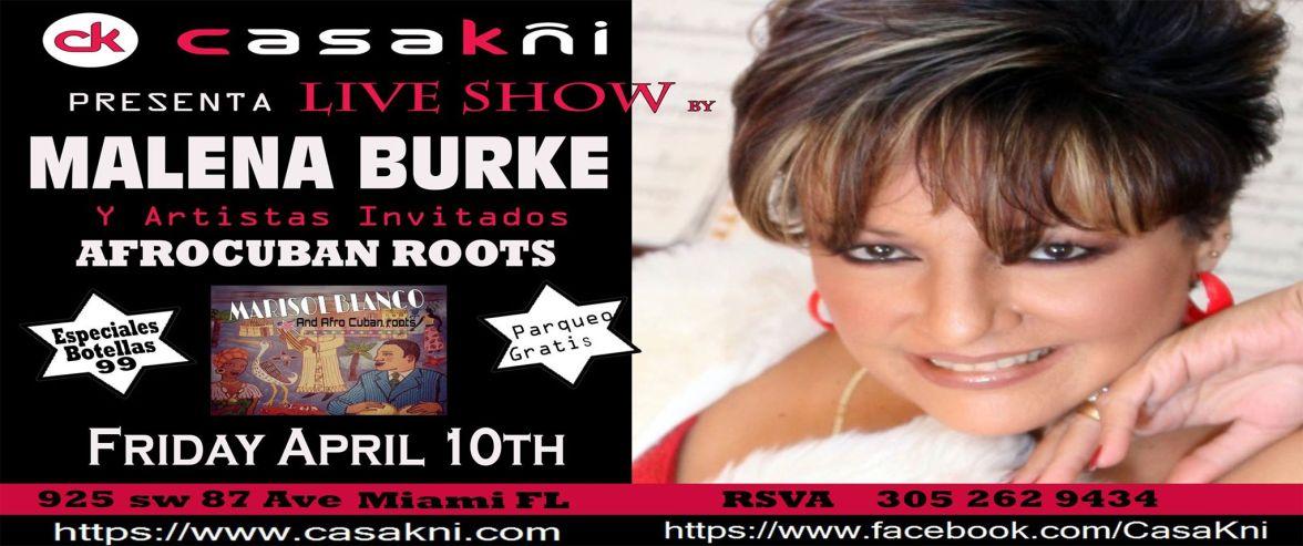10 de abril - Malena Burke en Casa Kñi de Miami, Florida