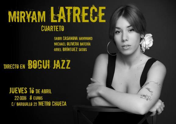 16 de abril - Michael Olivera y Ariel Brínguez con Miryam Latrece en Bogui Jazz de Madrid