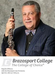 25 de abril - Paquito D'Rivera en Brazosport College de Lake Jackson, Texas