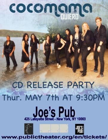 07 de mayo - Cocomama en el Joe's Pub de Nueva York