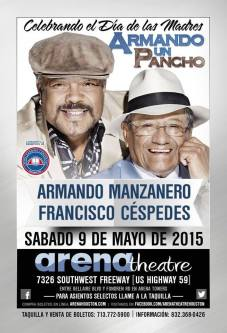 09 de mayo - Francisco Céspedes y Armando Manzanero en el Arena Theatre de Houston, Texas