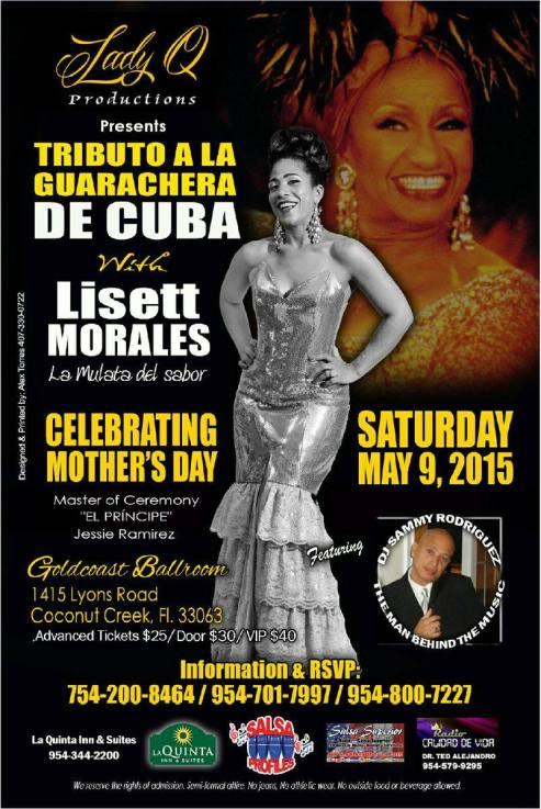 09 de mayo - Lisett Morales en el Goldcoast Ballroom de Coconut Creek, Florida