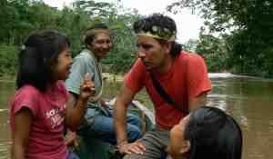 Visiting amazon forest people in Ecuadro