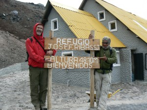 Climber's hostel at Cotopaxi, near snowline at 4800m.