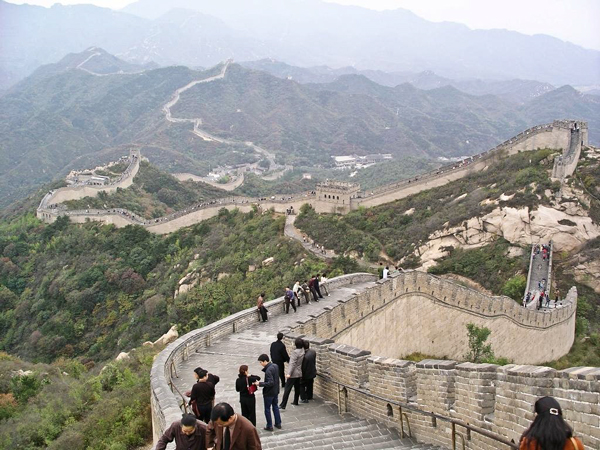 The Great Wall at Badaling, north of Beijing