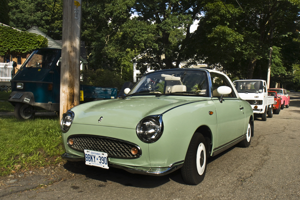 My own 1991 Nissan Figaro...back to the future from Japan!