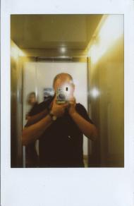Title: Selfie Mr. Blue, Name: Antonino Zambito, Fujifilm instax mini 90
