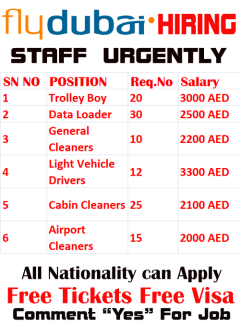 Airport Job Vacancy in Dubai