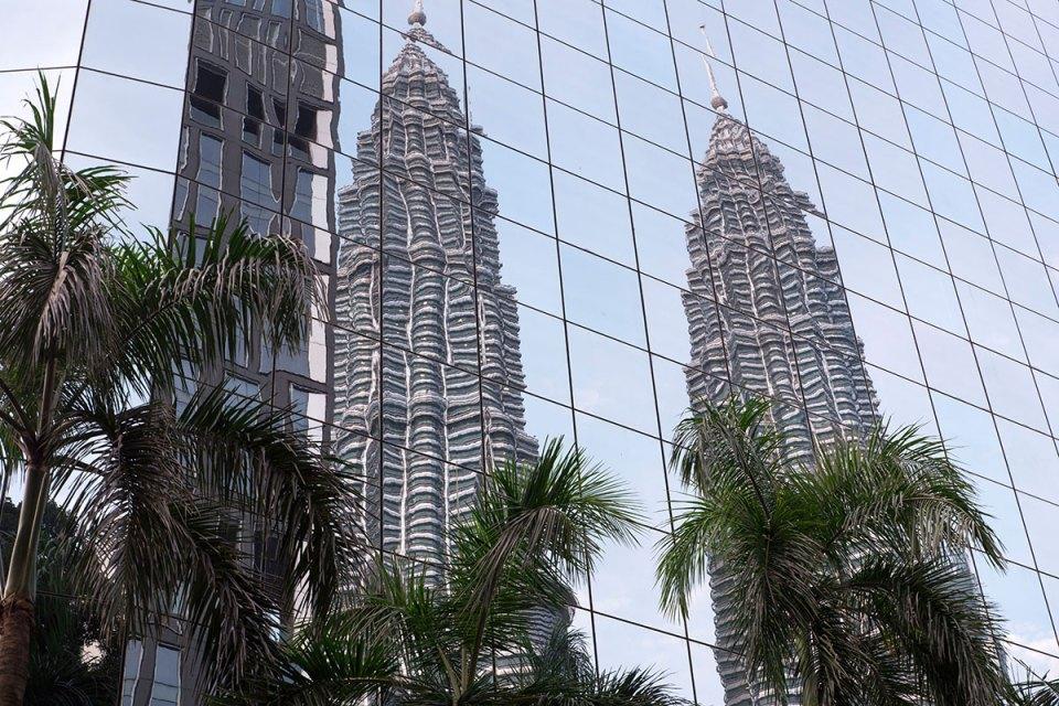 Petronas Twin Towers reflection