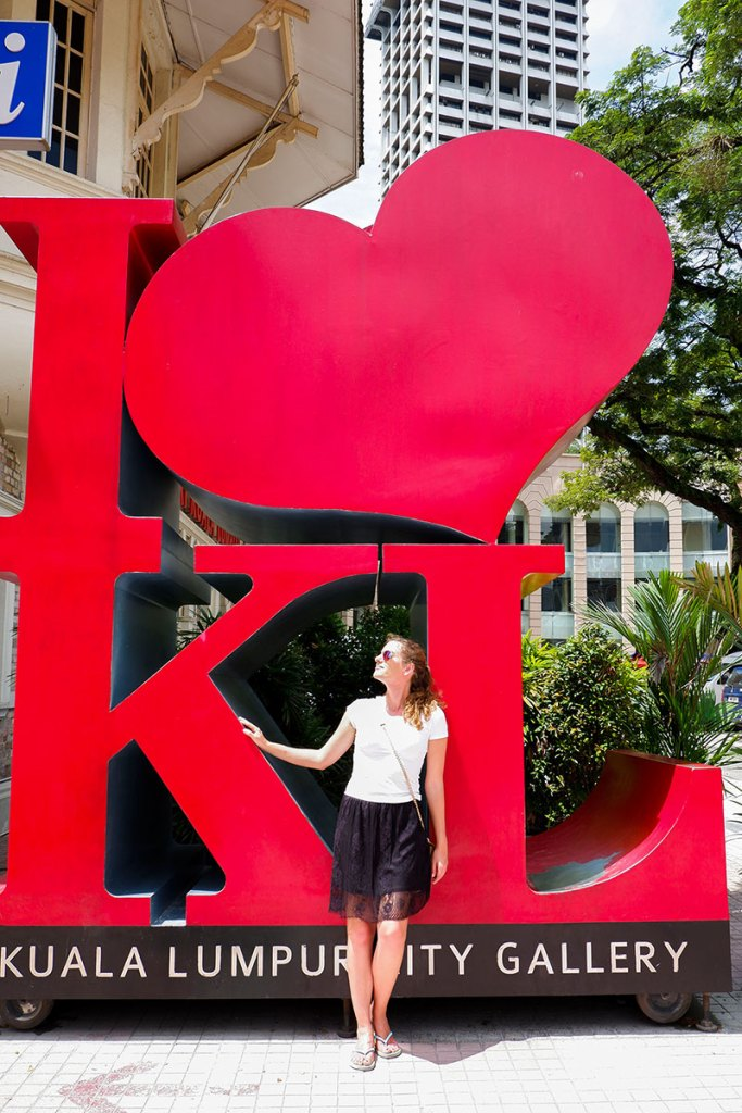 Kuala Lumpur love sign