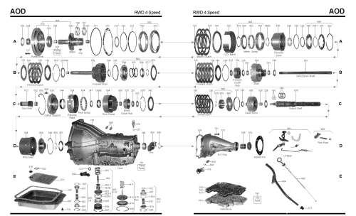 small resolution of ford aod transmission master rebuild kit from alto stage 3 4l60e transmission diagram breakdown 4l60e transmission diagram breakdown
