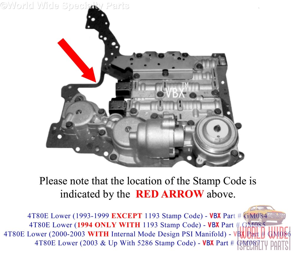 medium resolution of  parts 4t80e tran diagram gm 4t80e lower valve body 2003 up lifetime warranty