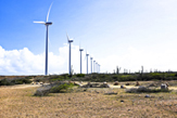 Windmills in the cunucu from Aruba