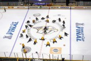 The Stanley Cup Final, Pittsburg Penguins and Nashville Predators is entertaining