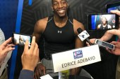 "In the Heat of the moment, Miami with the 14th pick draft Kentucky's Edrice ""Bam"" Adebayo"