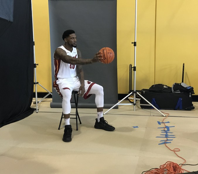 In the Heat of the moment, Udonis Haslem is a voice on the court, as a father and the Miami community for life