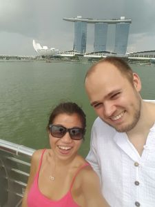 Marina Bay Sands in the background