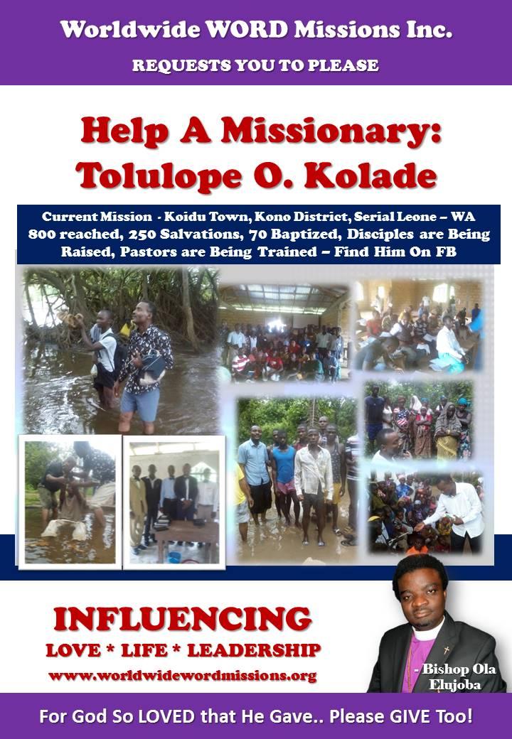 wwwmissions help flier Tolulope Serial Leone