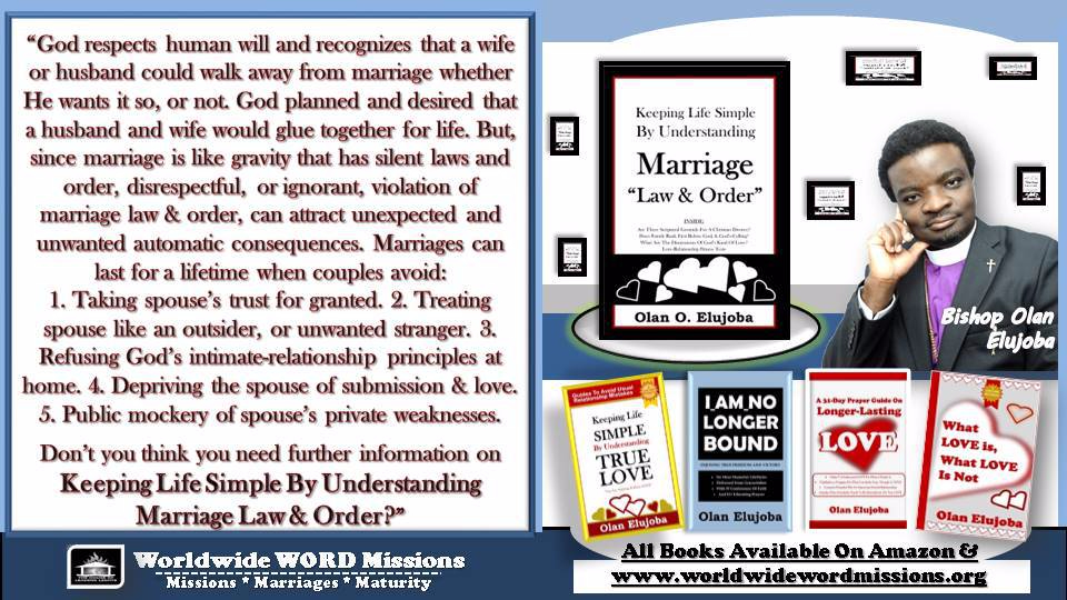 Keeping Life Simple By Understanding Marriage law & order ad message