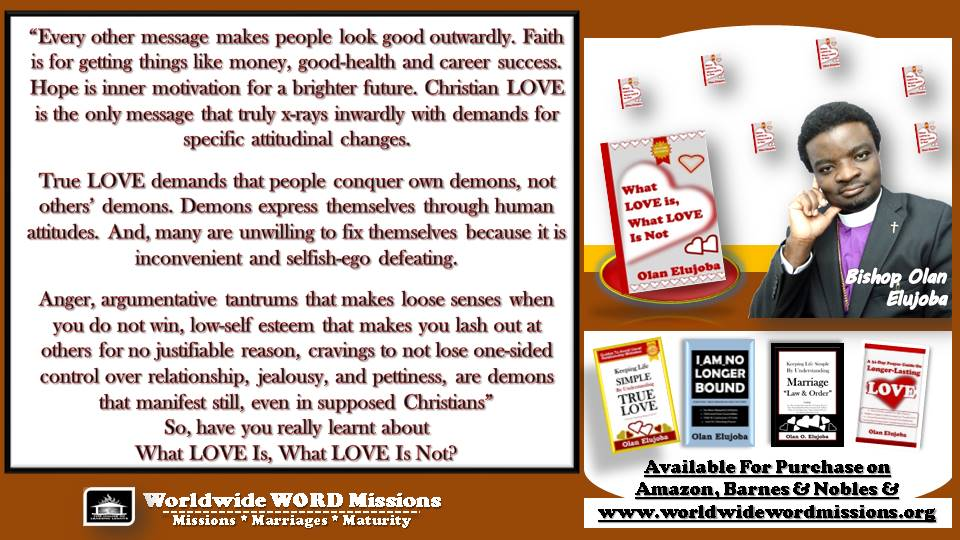 what love is or not ad message attitude demons