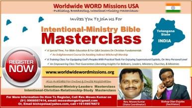 Intentional Ministry MasterClass TELANGANA INDIA