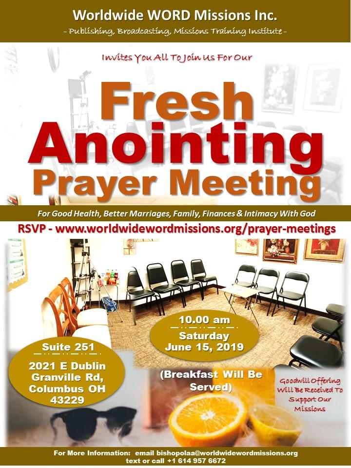 Prayer Meeting June 15 2019