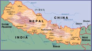 Karte Nepal Indien