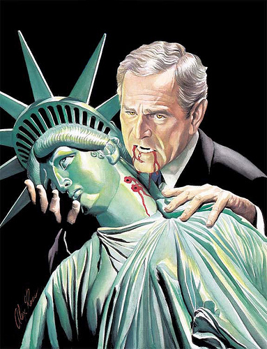 George Bush as Vampire