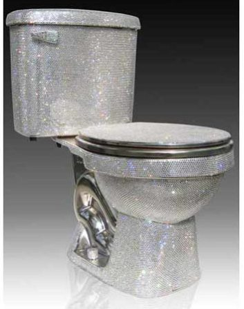 Diamond Encrusted Toilet By Gail Worley