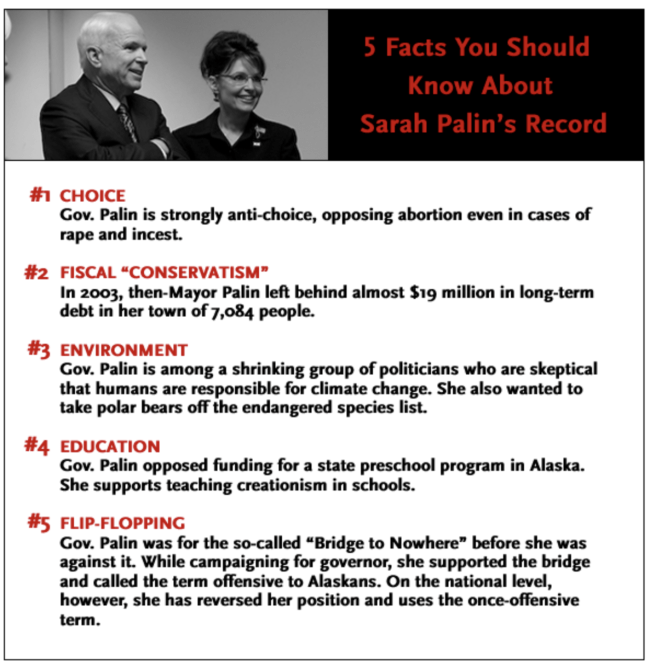 5 negative facts about sarah palin