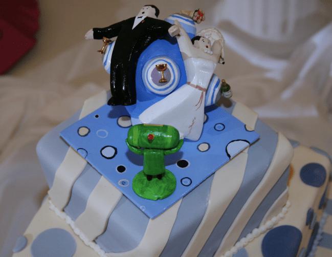 katmari wedding cake topper