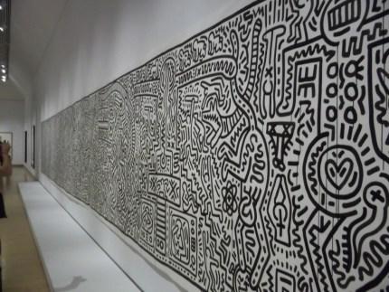Keith Haring Long Wall Mural