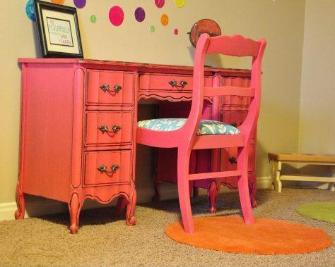 Finished Pink Desk