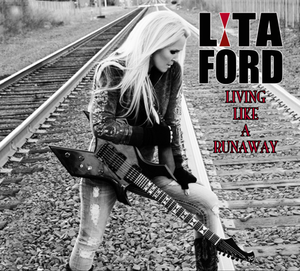 Lita Ford Living Like a Runaway Cover