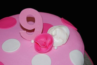 9th Birthday Cake Pink